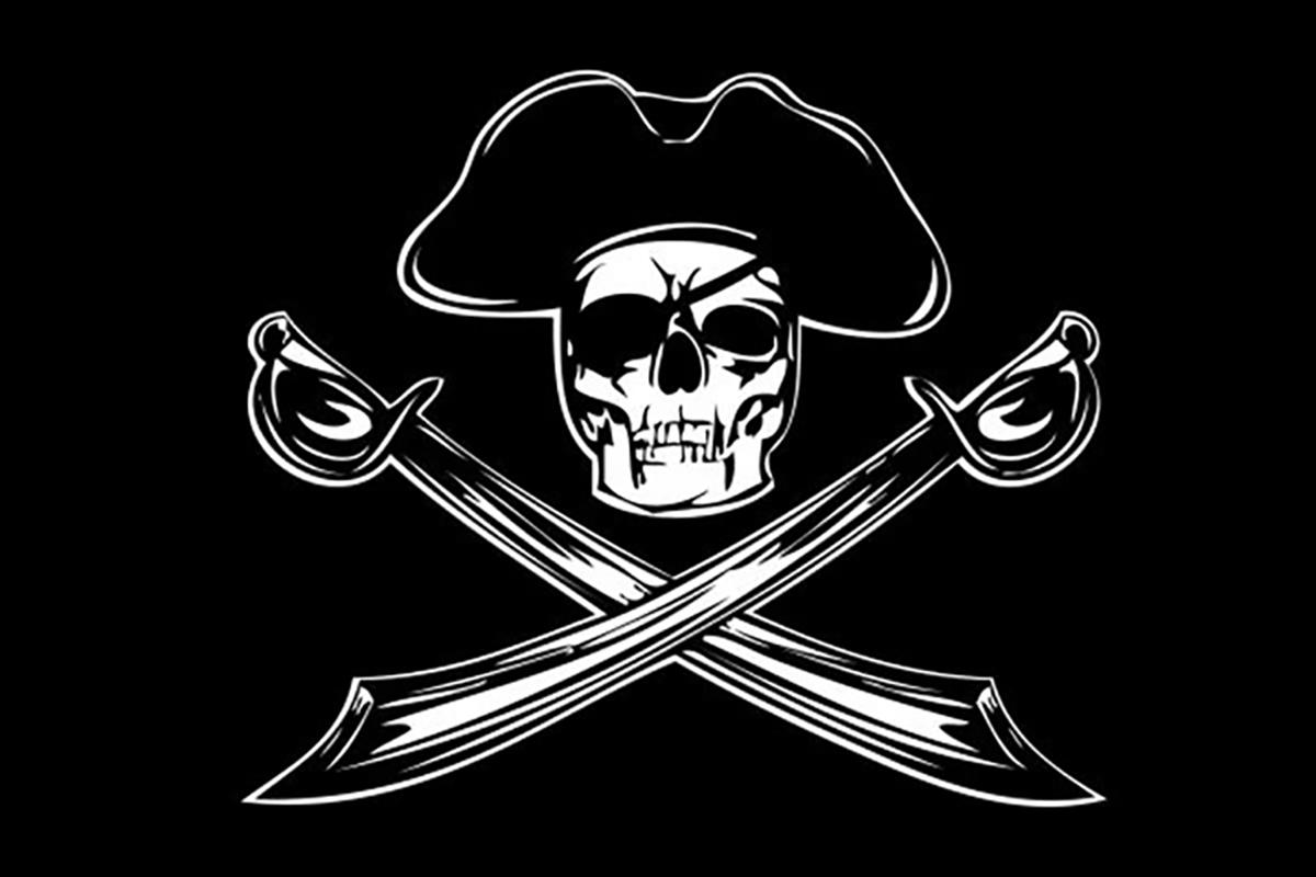 пират с флагом картинка кажется