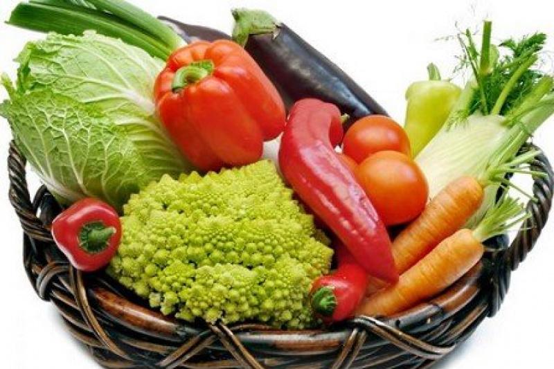 Вареные овощи при диете